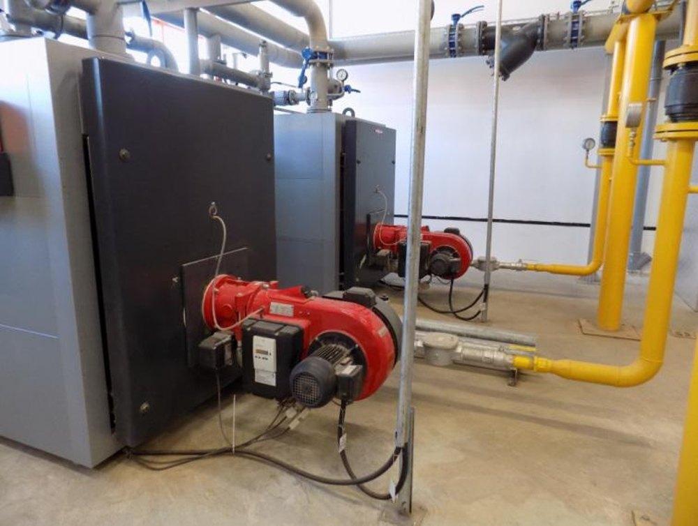 Внутреннее устройство газовой котельной строящегося торгового центра ОБИ (OBI) в г. Волжский Волгоградской области